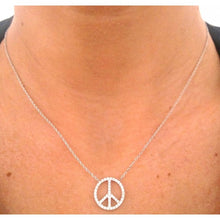 Charger l'image dans la galerie, Collier peace and love en argent