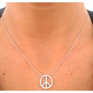 Collier peace and love en argent