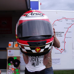Charlotte at the Isle of Man Mountain Course