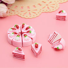 Load image into Gallery viewer, 10PCS Cute Kawaii Flat Back DIY Miniature Artificial Fake Food Cake Resin Cabochon Decorative Craft Play Doll House Toy 4Styles