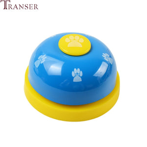 Newly 7 Color 1pc Pet Training Supply Paw Print Metal Dining Bell Cat Dog Bells For Potty Training Communication Device 81206