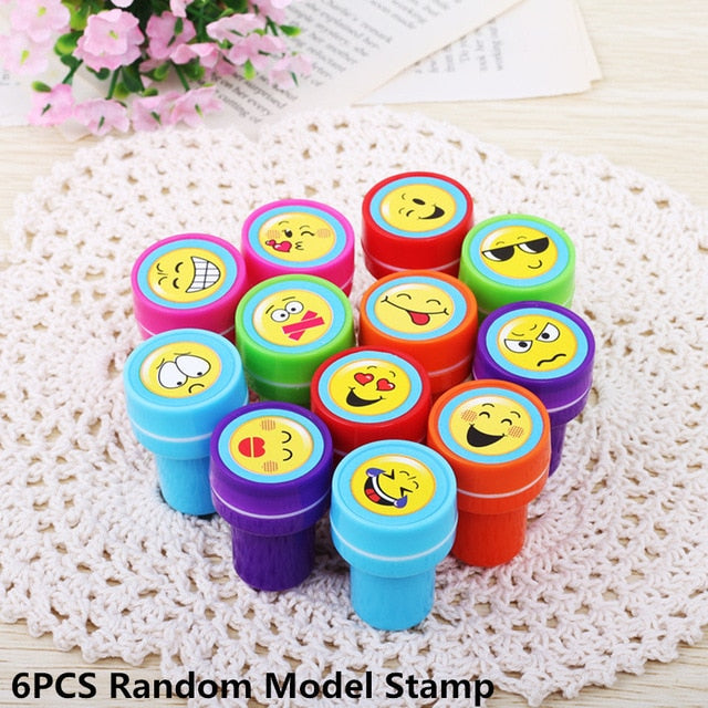 Educational Toy Event Supplies Stamps Rubber Cartoon Birthday Kids Puzzle Diy Scrapbook Christmas