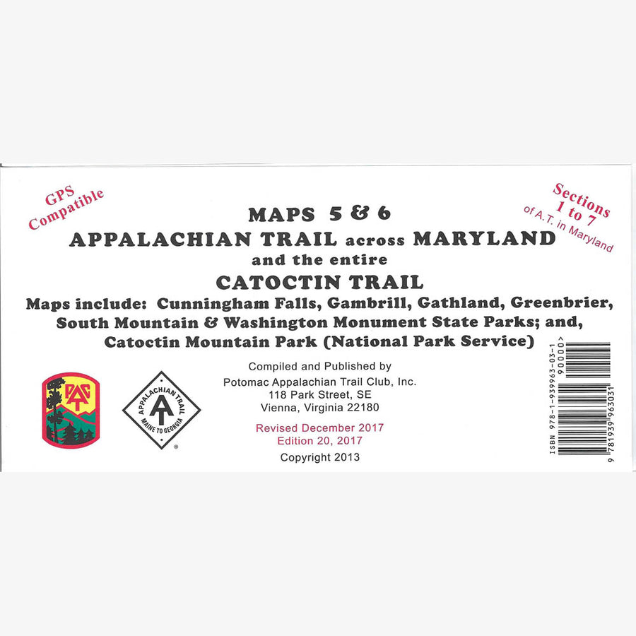 Appalachian Trail Hiking Map: MD (Map 5 and 6)