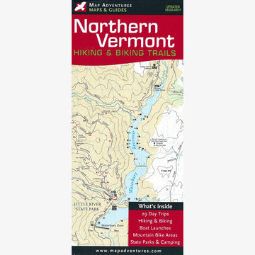 Northern Vermont Hiking and Biking Trails Map