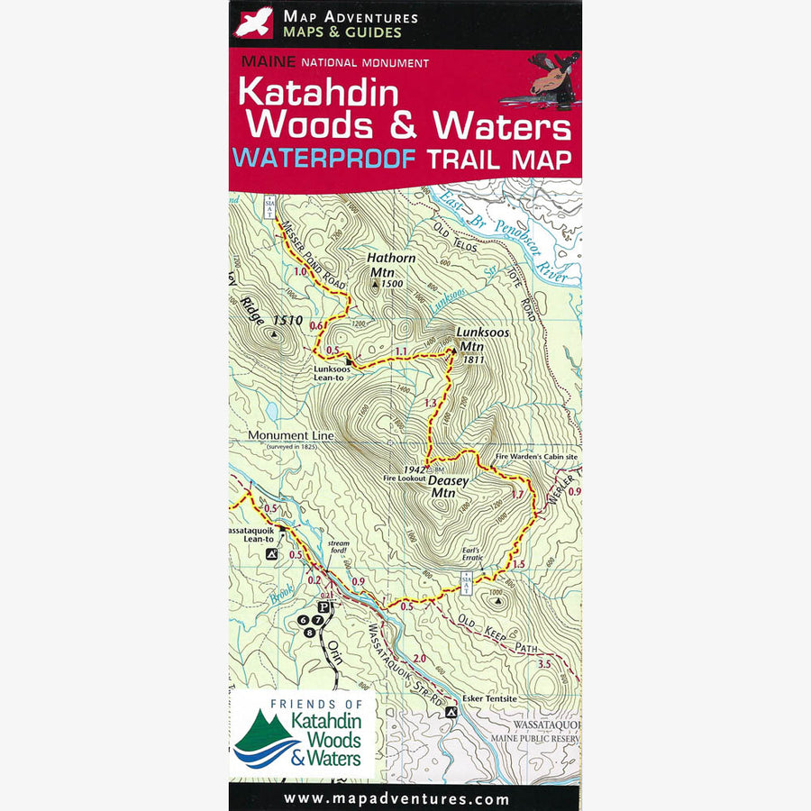 Katahdin Woods & Waters Trail Map