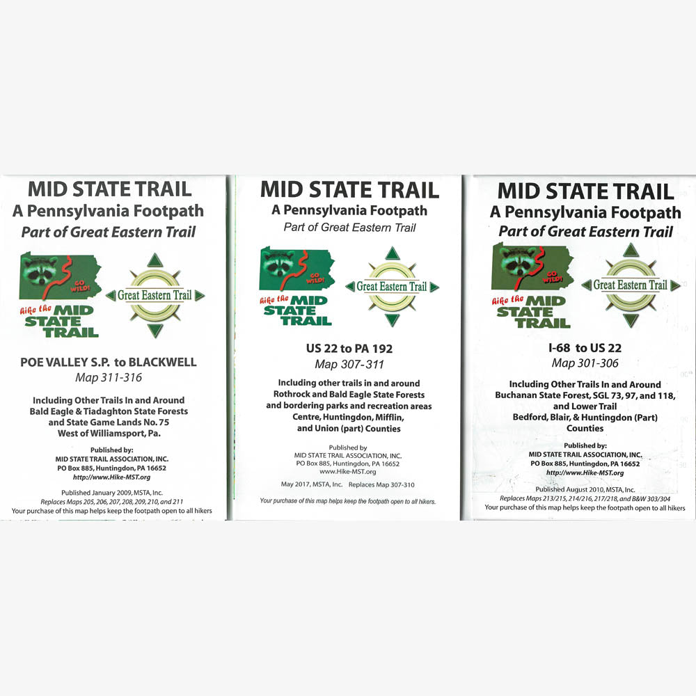 Mid State Trail Map Guide Set Pahikes