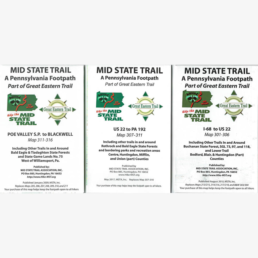 Mid State Trail Map & Guide Set