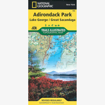 Adirondack Park Map: Lake George, Great Sacandaga