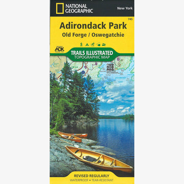 Adirondack Park Map: Old Forge, Oswegatchie