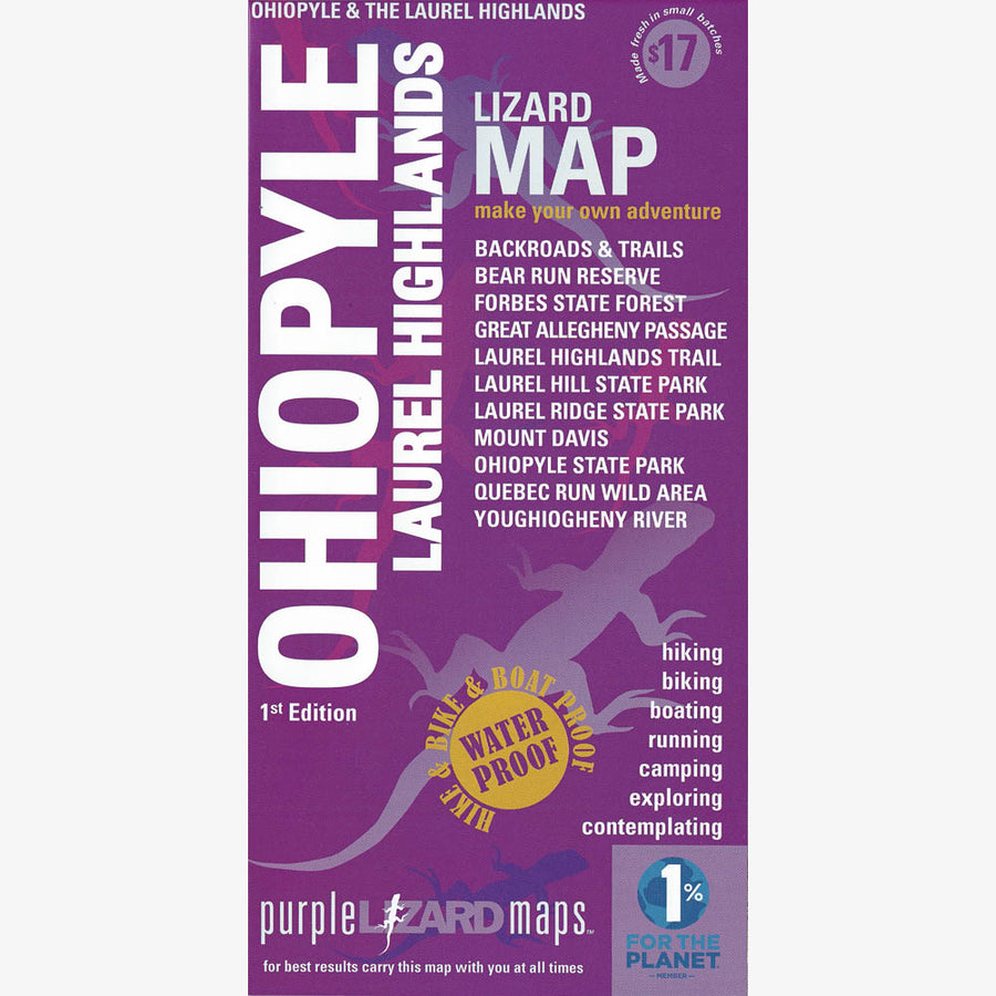 Ohiopyle-Laurel Highlands Area Trail Map