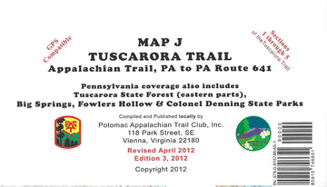 Tuscarora Trail Map: Pennsylvania (Map J)
