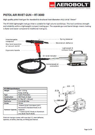RT-3000 Manual & Spare Parts List