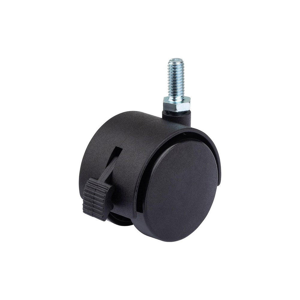 Twin Wheel Castors with Thread Bolt