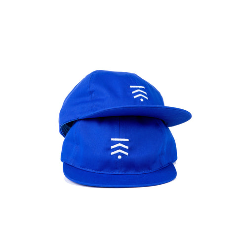 Blue cycler cap