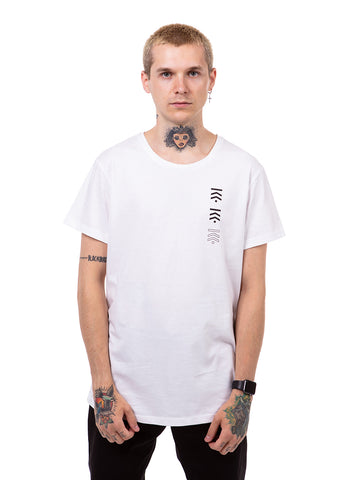 White tripple logo t-shirt