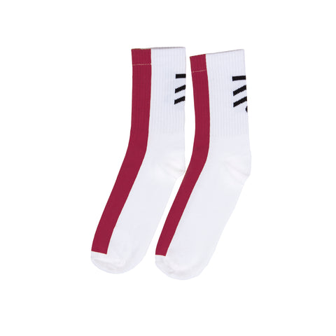 Burgundy stipre socks