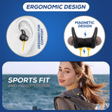 WeCool Neckband bluetooth headphones with 12 hours Play Time Bluetooth Headset  (Yellow, In the Ear)