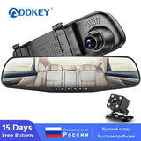 ADDKEY Dual Lens, HD Rear View Dash Cam Automatic DVR