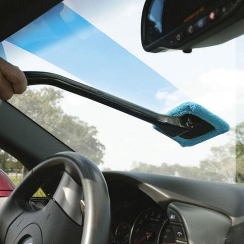 Microfiber Long Handle Car Windshield Wash & Dust Brush