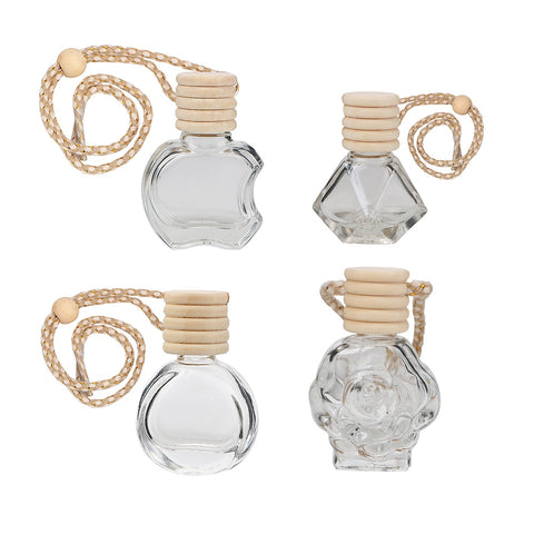 Car Perfume Bottle For Essential Oils Hanging Glass Bottle