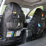 Waterproof 1PC Seat Cover, Multi-Pockets Back Seat Organizer