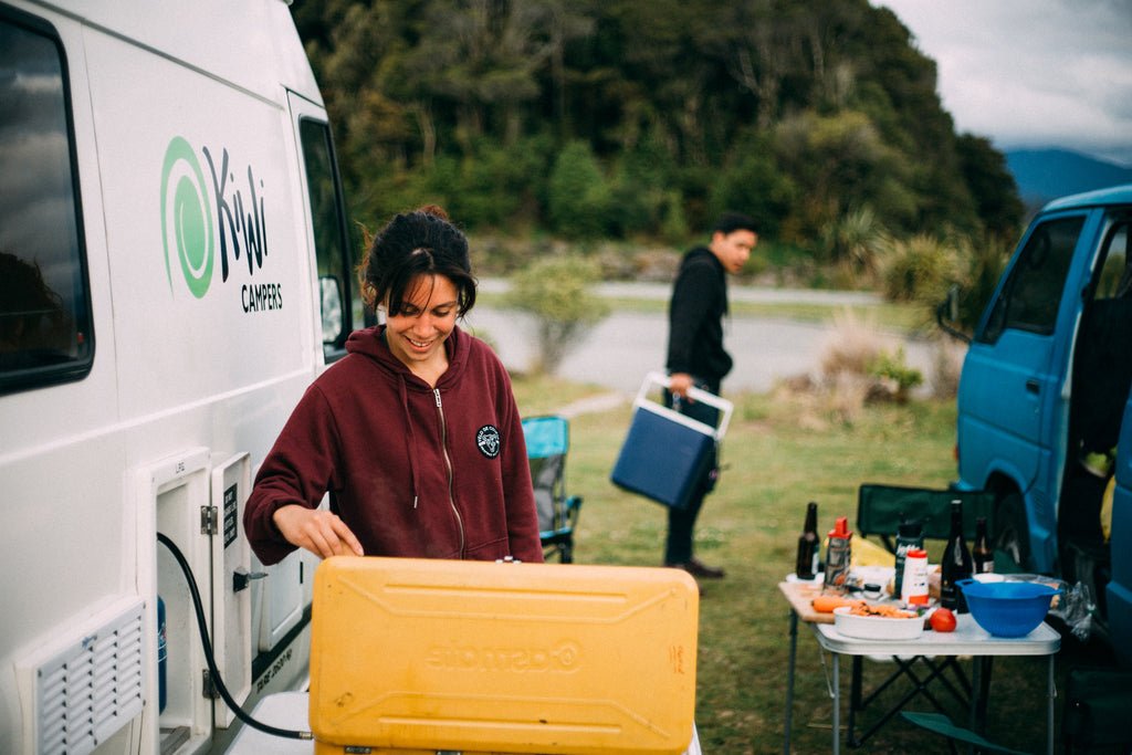 car camping and cooking