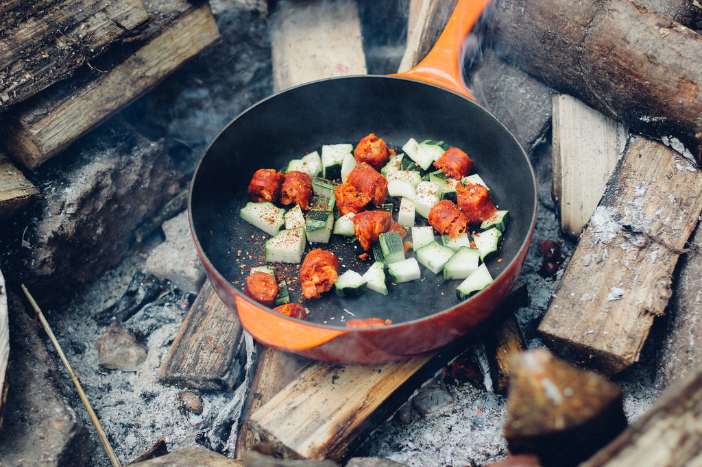 campfire cooking outdoor