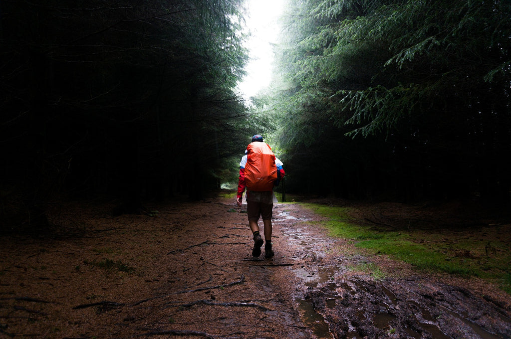 backpacking in the rain