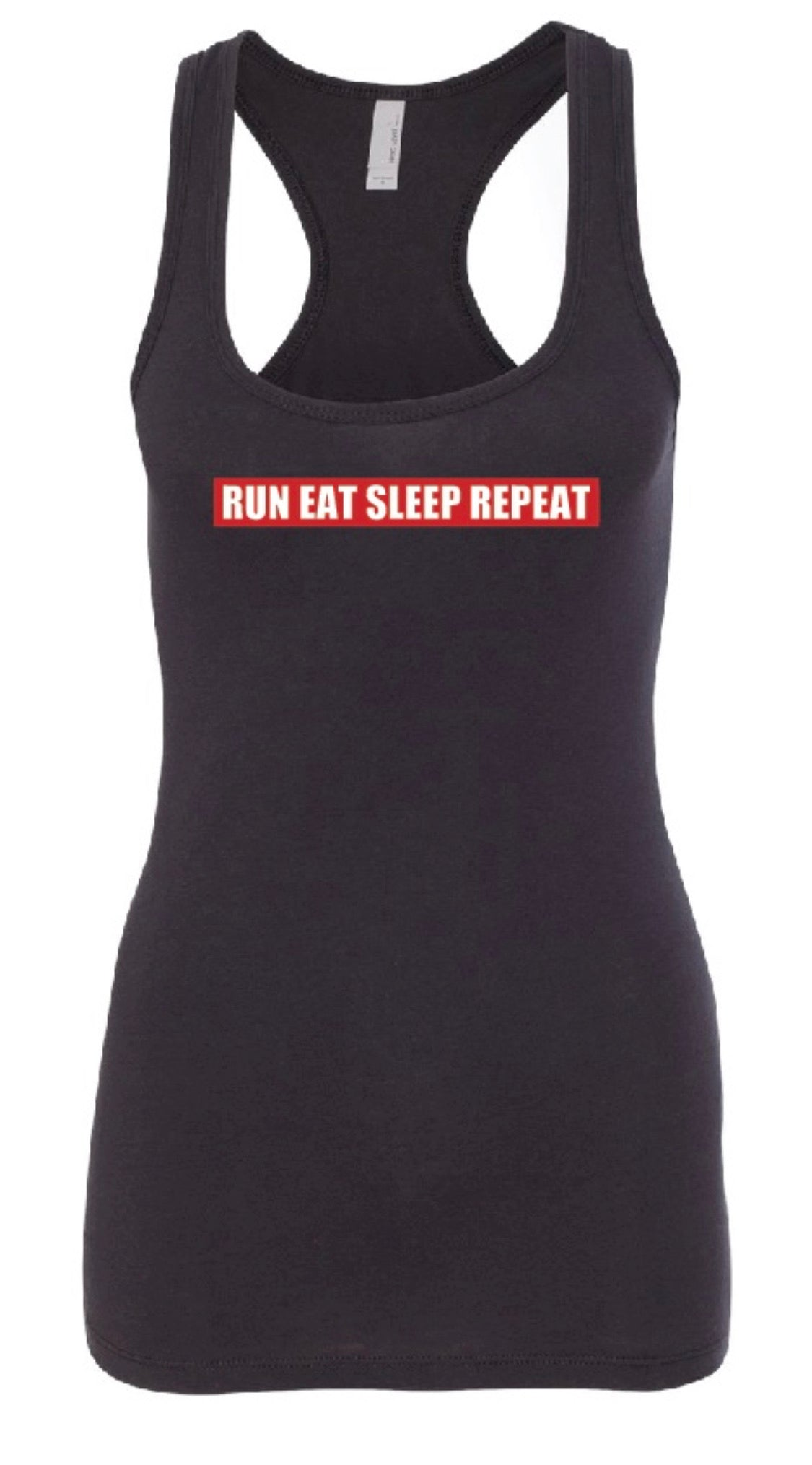 """ A Runner's Life"" Tank - Women's Black"