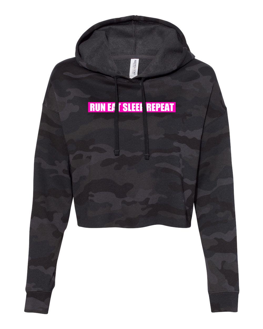 BREAST CANCER WARRIOR Womens Cropped Hoodie - (PRE-SALE)