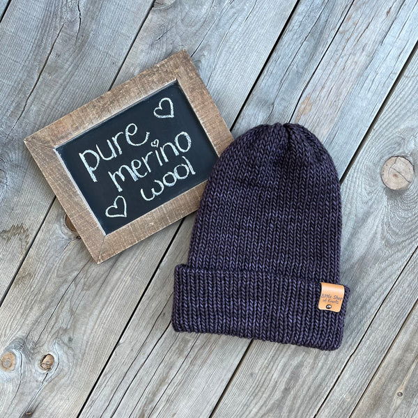 Pure Merino Wool Beanie - Adult