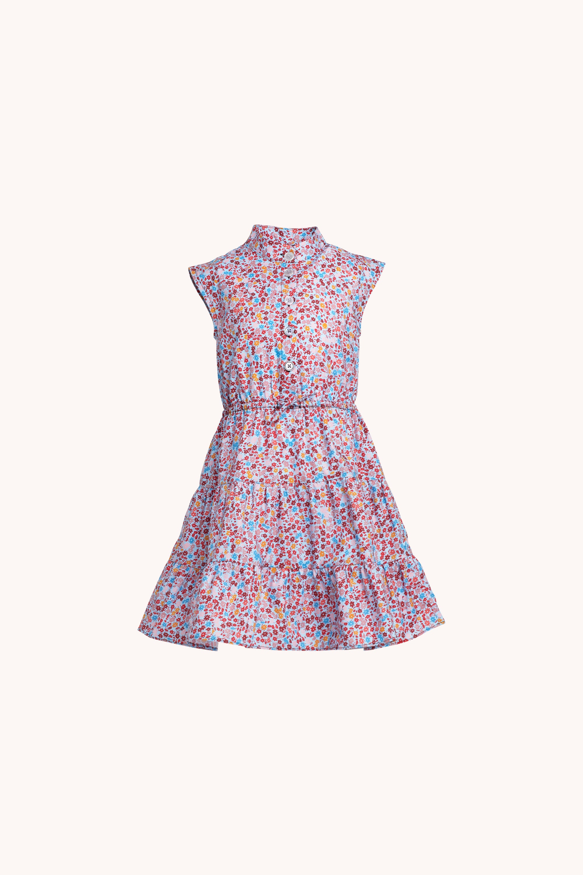 Ollie Dress | Ditsy Floral Baby Blue