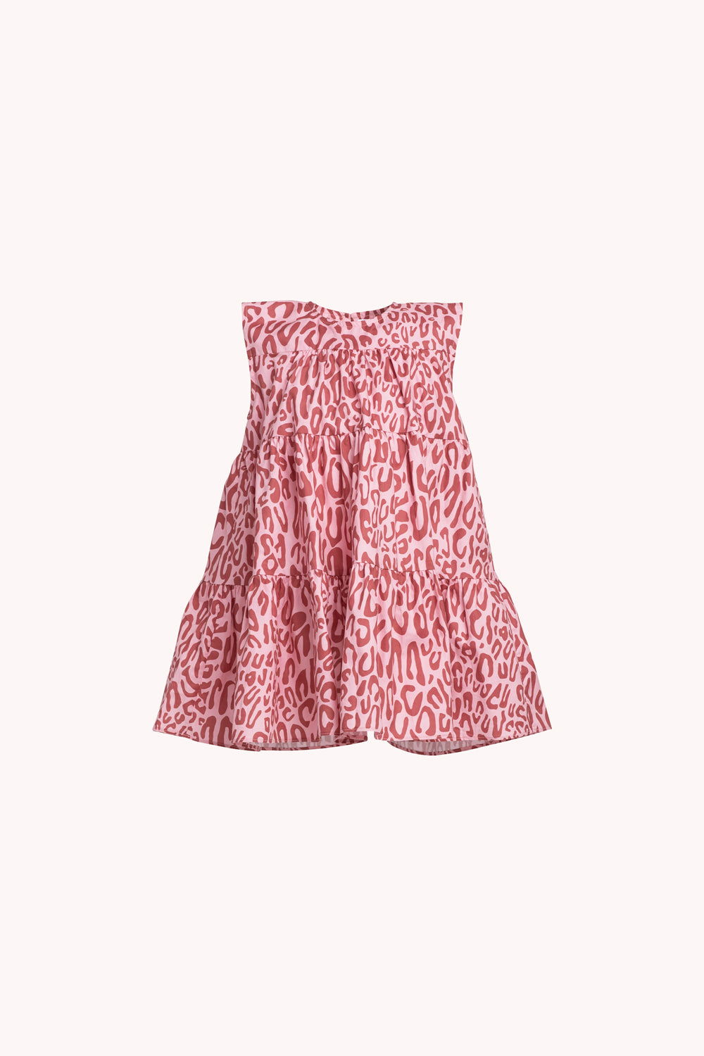 Lizzie Dress | Soft Pink Leopard