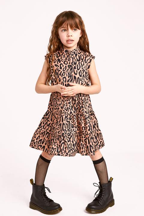 Ollie Dress  | Caramel Leopard