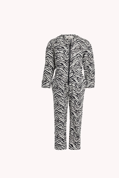 Zebra Clover Jumpsuit  | Heather Gray