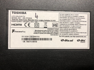 "Toshiba 49L3753DB  49"" Full 1080p HD Smart TV 3 months warranty"