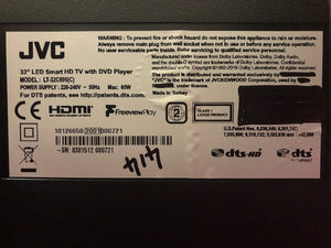 "JVC LT-32C695 32"" 720p HD dvd Smart TV 3months warranty"