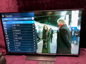 "As New Panasonic TX-49GX550B 49"" Refurb Slimline LED TV. 4K. Smart. 12months warranty"