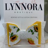 Sunflower Glitter Bow