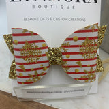 Christmas Star Glitter Bow