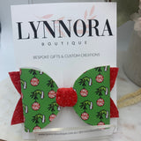 Grinch Bauble Bow