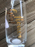 Personalised Flower Girl Glass