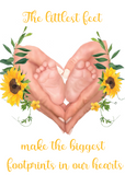The Littlest Feet Baby Print