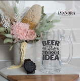 Personalised Father's Day Beer Stein