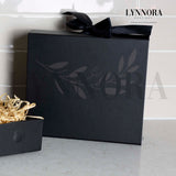 Small Personalised Gift Box - Black Ribbon