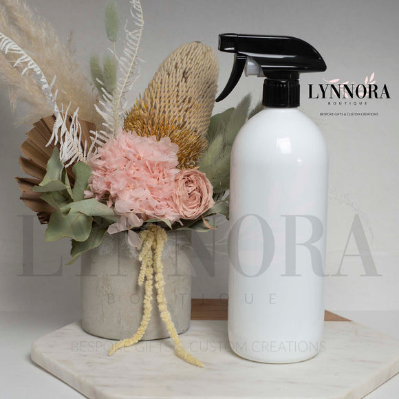 Reusable Spray Bottle - White