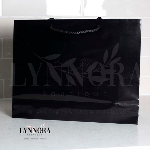 Personalised Glossy Gift Bag - Black