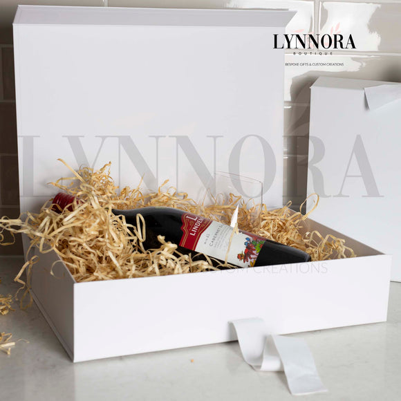 XL Personalised Gift Box - White Ribbon