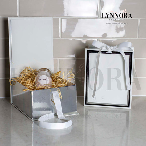 Personalised Gift Box - White/Silver