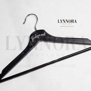 Personalised Coat Hanger - Black